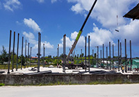 Addu badminton hall on-site construction report